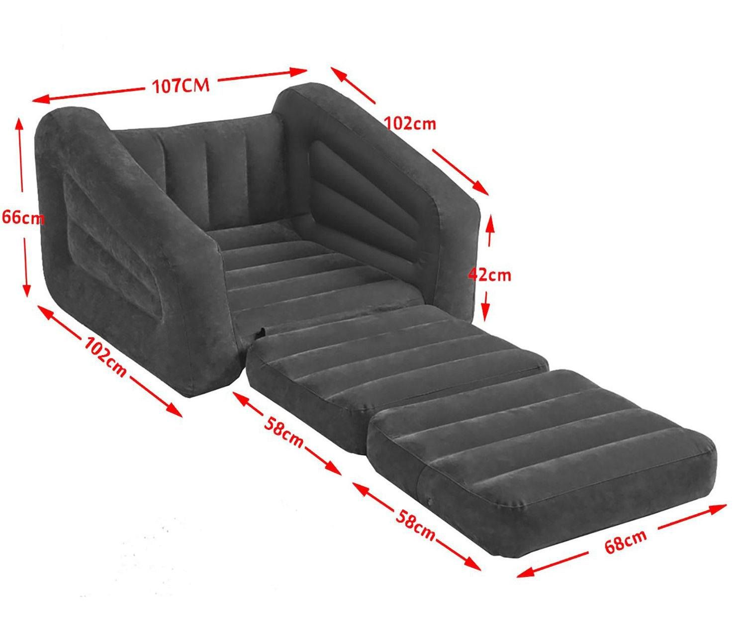 Inflatable Pull Out Sofa The Size Can Be Customized
