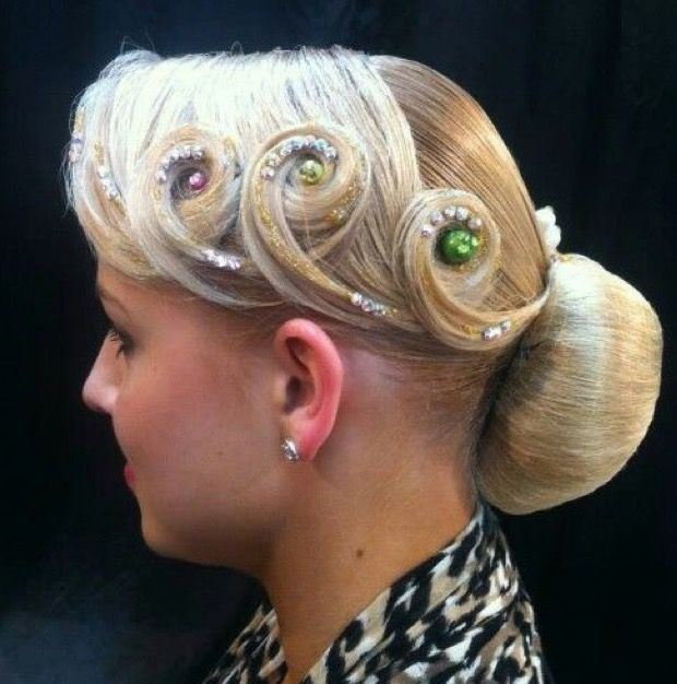 pin von kelly simon auf ballroom hair   pinterest   frisur