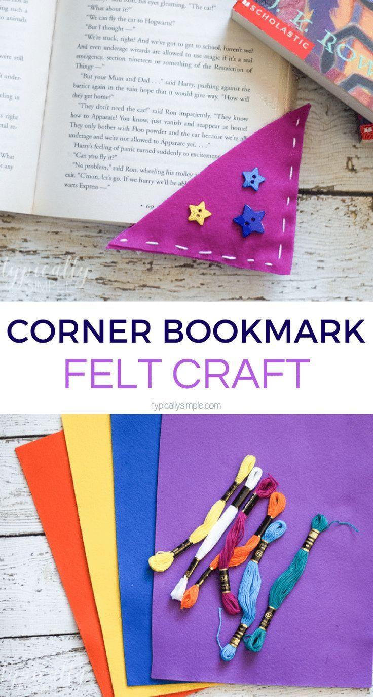 Corner Bookmarks Felt Craft | Manualidades | Pinterest | Juguetes de ...