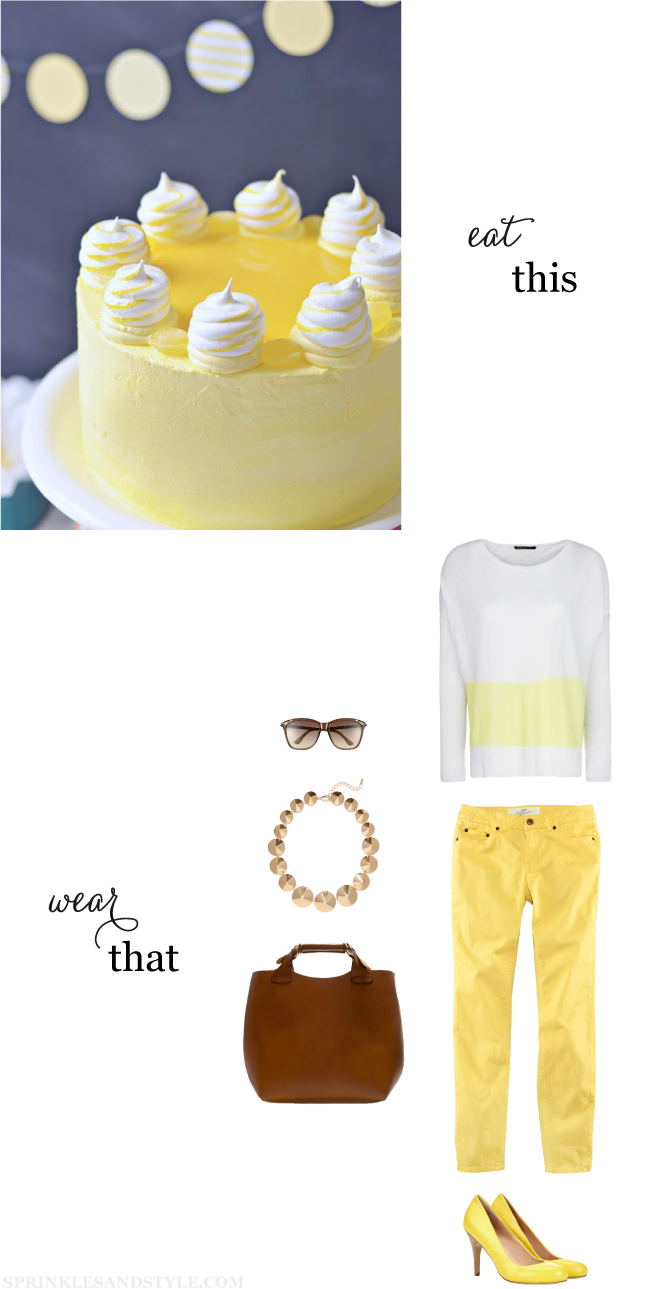 Eat This, Wear That: Mellow Yellow Meringue