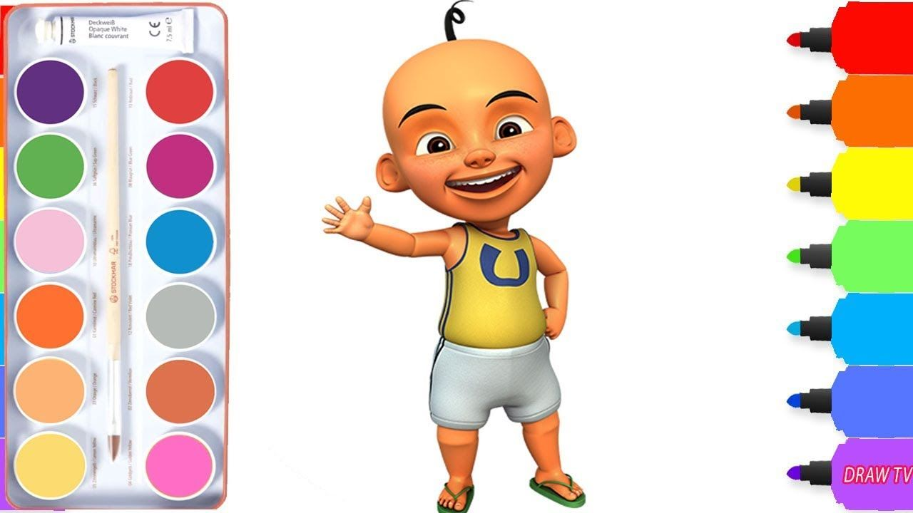 How To Draw Upin From Upin Ipin Coloring Pages Drawing Cartoon