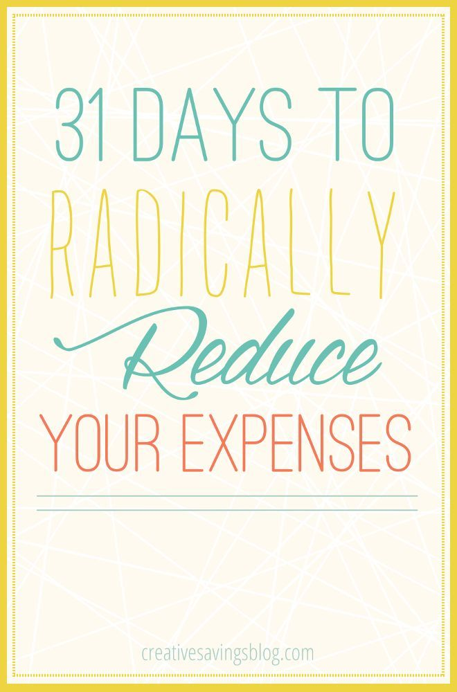 How To Reduce Expenses  Days Series  Budgeting Goal And Frugal