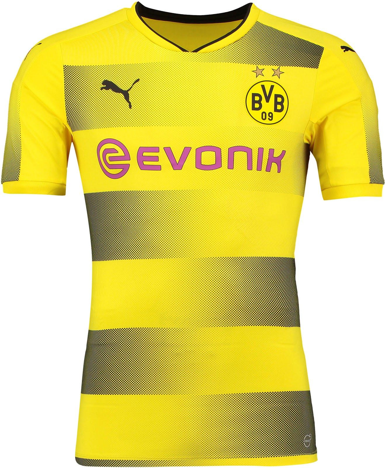The Borussia Dortmund 2017-18 jersey features an outstanding hoop graphic. 2651b16de