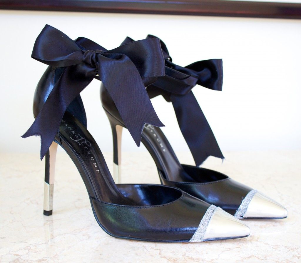diy bow pumps, aminah abdul jillil black bow pumps, la fashion