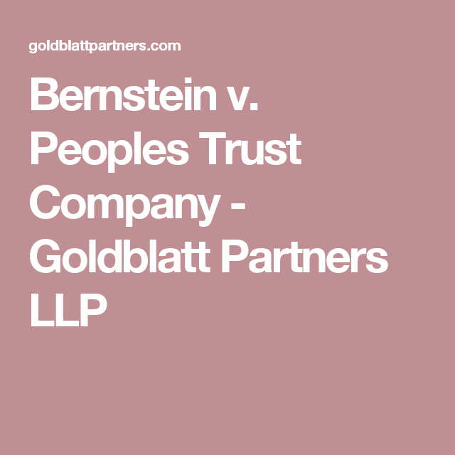 bernstein v  peoples trust company