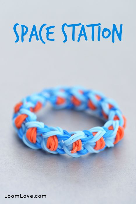How To Make A Rainbow Loom Space Station Bracelet Rainbow Loom Rainbow Loom Tutorials Rainbow Loom Bands