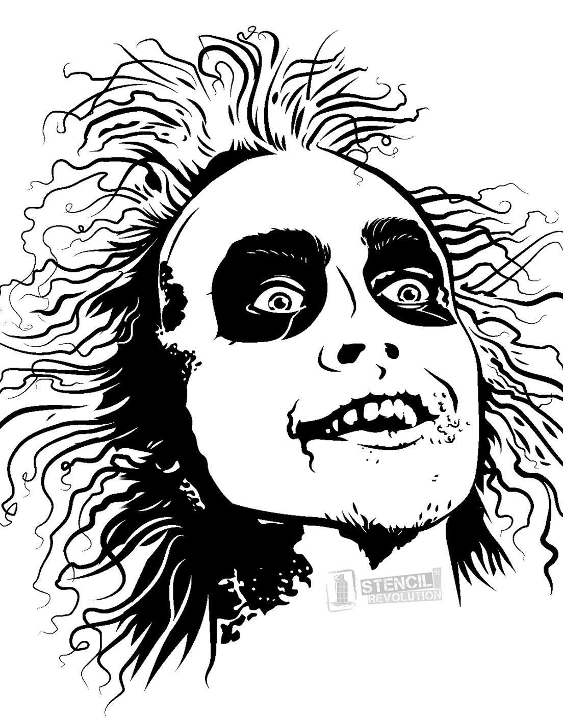 Download Your Free Beetlejuice Stencil Here Save Time And Start Your Project In Minutes Get Printable Stencils For Art And Des Beetlejuice Silhouette Art Art