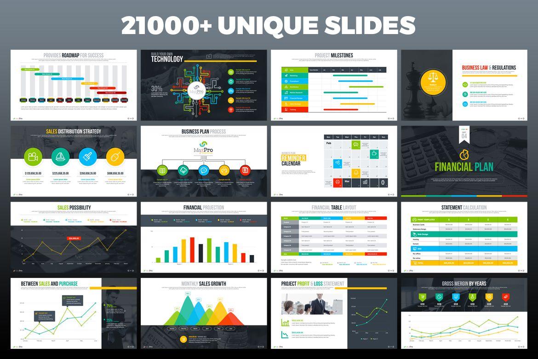 maxpro business plan powerpoint template design pinterest
