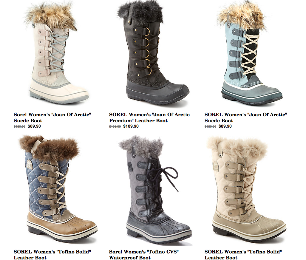 Rue La La: SOREL Boot Sale! Women's, Men's & Kids' Boots Up To 50 ...