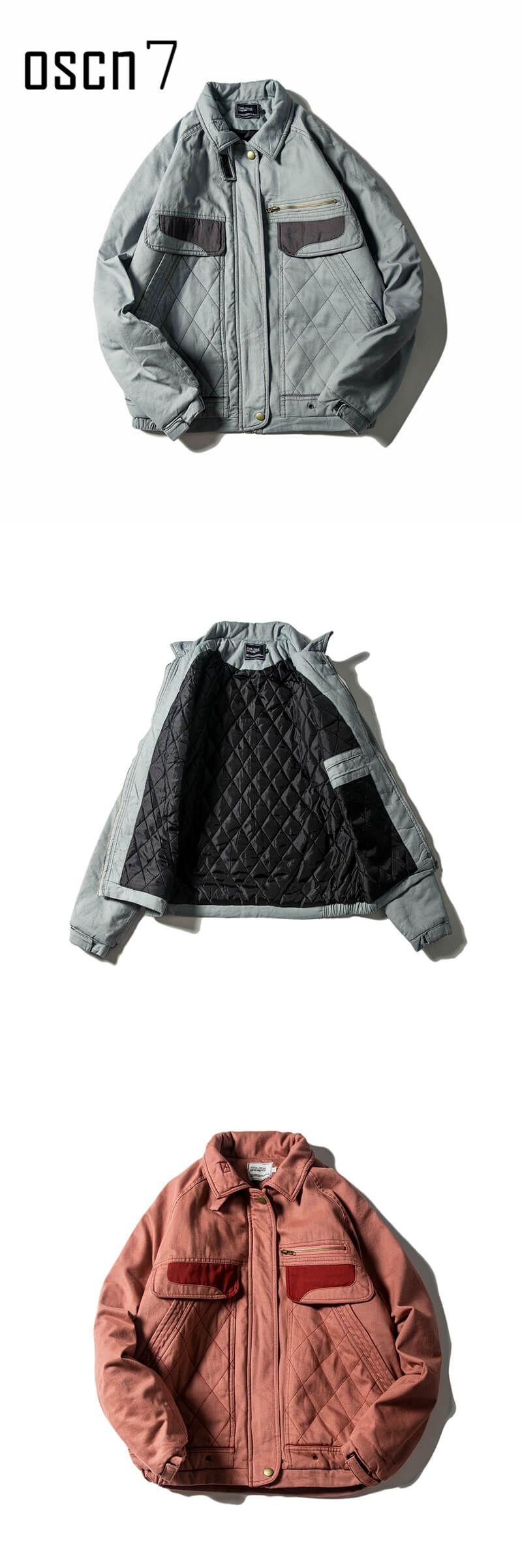 5a47e15be4f OSCN7 Winter Stretwear Oversize Bomber Jacket Parka Men 2017 New Casual  Fashion Thick Warm Wash Parka