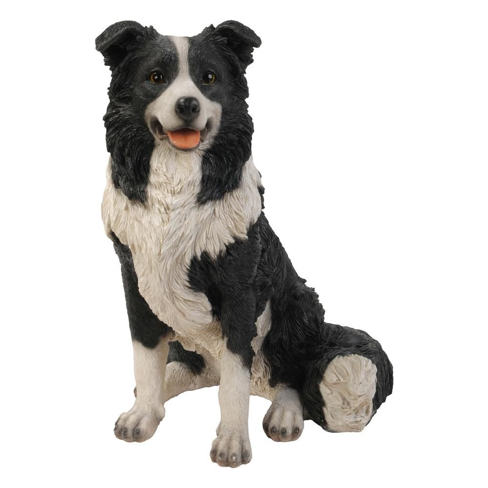 Hi Line Gift Border Collie Sitting Statue Statue Dog Gifts