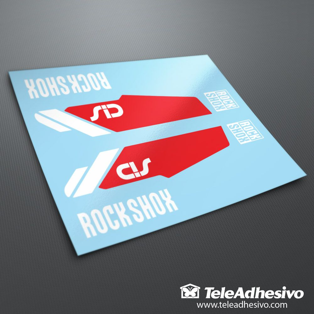 Sticker design for mountain bike - Car And Motorbike Stickers Stickers Rock Shox Sid Forks Mountain Bike