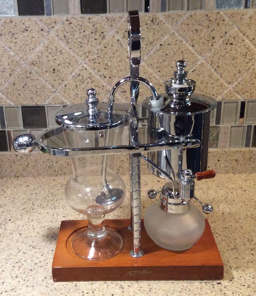 New Belgium Luxury 4D+COFFEE Siphon/Syphon Vacuum Chrome Coffee Maker | Siphon coffee, Coffee ...