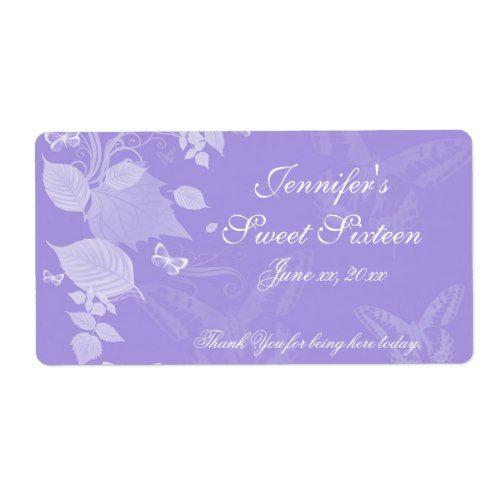 Sweet Sixteen, Bat Mitzvah, Custom Label Quinceanera Pinterest