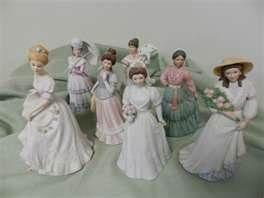 Home Interior Lady Figurines | Homco Home Interiors 7 Victorian Lady Figurines Caroline Bride ...