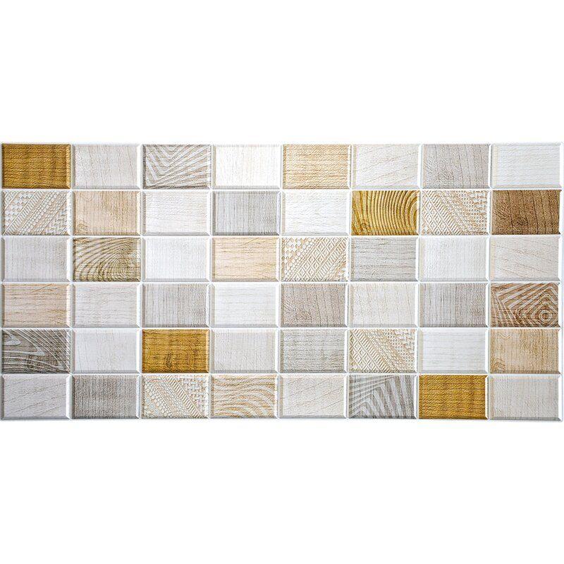 Falkirk 3d 38 W X 19 L Vinyl Wall Paneling In White Beige In 2020 Vinyl Wall Panels Interior Wall Design Modern Wall Paneling