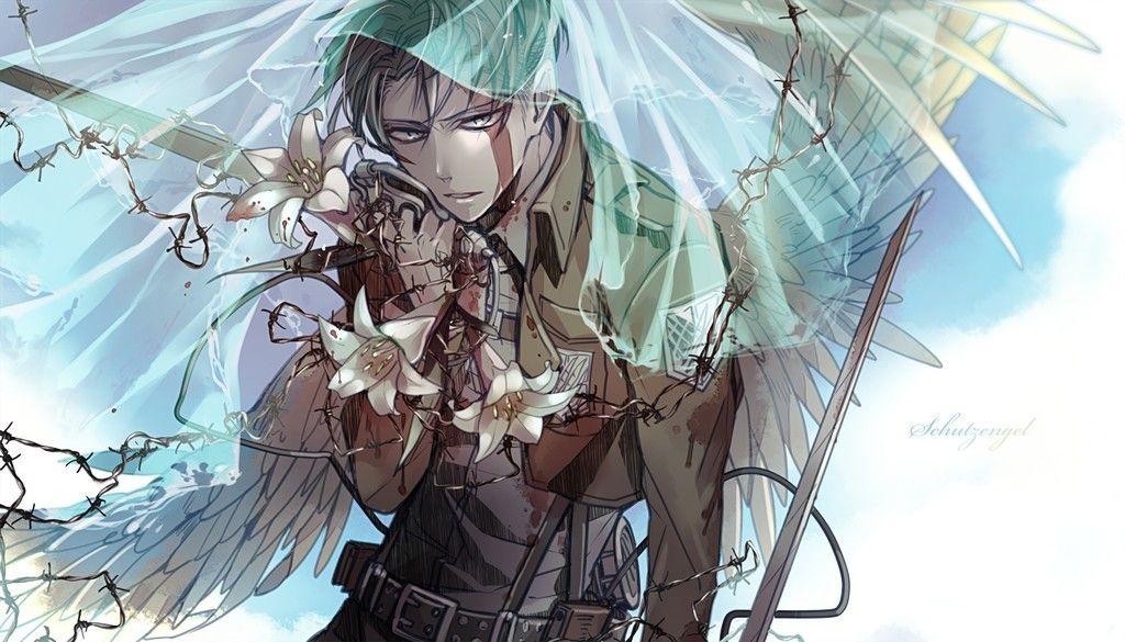 On Titan Anime Boy Anime Wallpaper