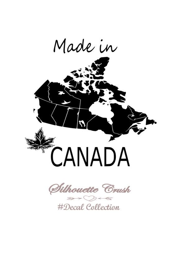 Map Of Canada Silhouette.Silhouette Crush Made In Canada Decal Map Of By Silhouettecrush Www