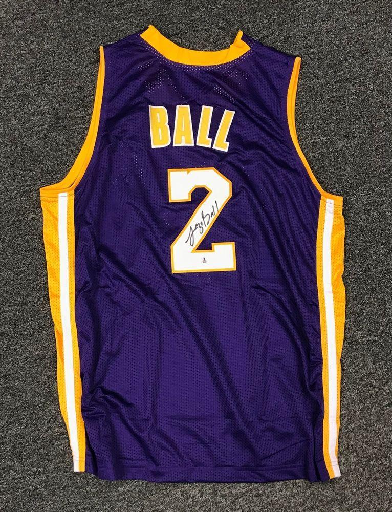 382cbd0491ca Lonzo Ball  2 Signed Lakers Jersey AUTO Sz XL Beckett BAS ROOKIE YEAR COA