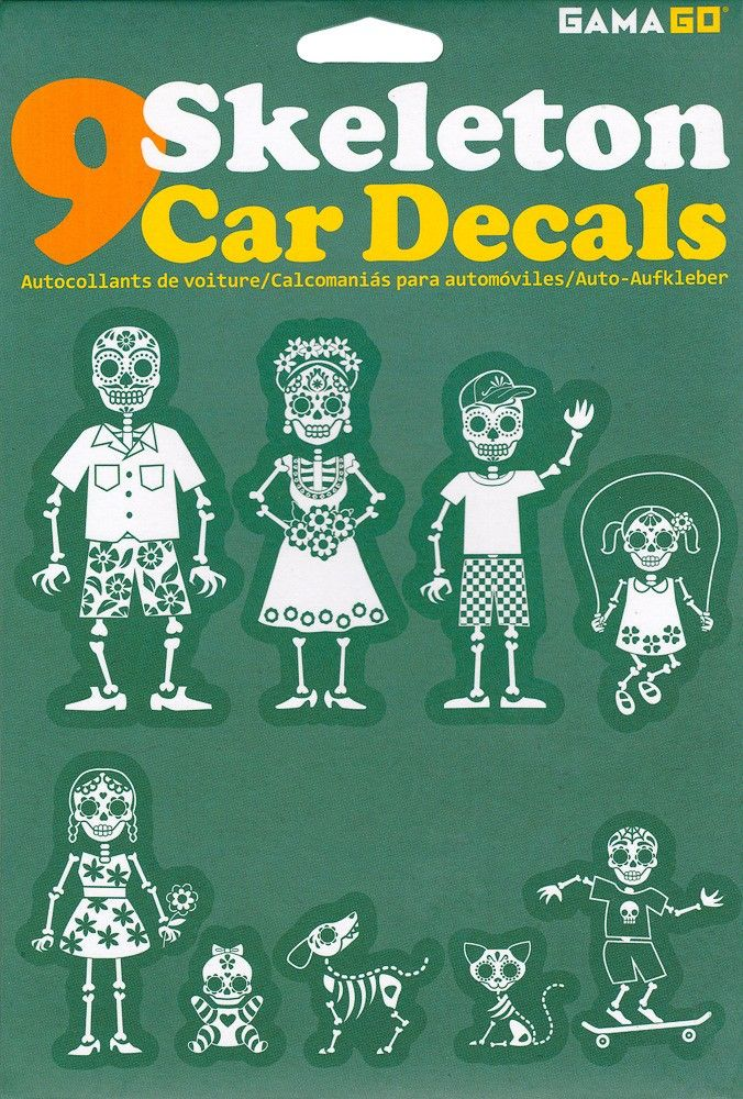 Family Skeleton Car Decals