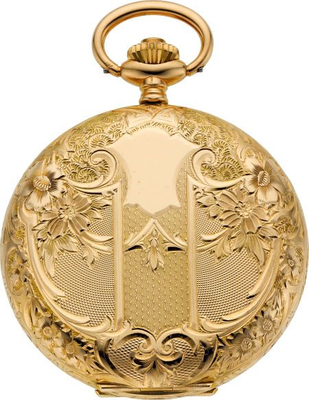 Timepieces:Pocket (post 1900), Tavannes Watch Co. New Condition Gent's Fancy Gold Hunters Case,circa 1915. ... Image #1