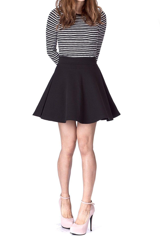 d6c15e5ac0 High Waisted Flared Skater Skirt – DACC