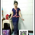 เสื้อผ้าไทยสไตน์อิสาน เสื้อผ้าฝ้ายสีครามภูไทย เสื้อใส่ผ้าซิ่นสีสีกรมท่า เสื้อผ้าฝ้ายสีน้ำเงินคอจีนกระดุมหน้า