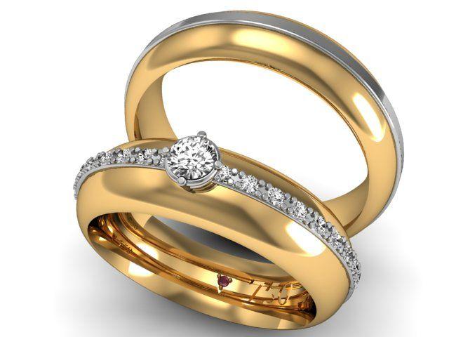 Par de Alianças Italy - Ouro 18k e Brilhantes   Wedding   Pinterest ... 988b3a2ccea