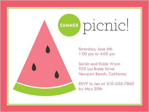 Summer Picnic 4x5 Stationery Card by Blonde Designs Shutterfly - fresh invitation card of birthday
