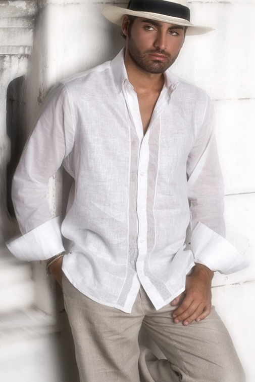 Guayaberas by Ketty Tinoco- men have never looked sexier! | MENS | Pinterest