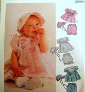 McCALLS Sewing Pattern 8536 - INFANT - DRESS HAT PANTIES