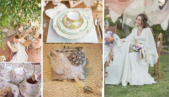 Victorian Themed Wedding Is About Grace And With Fine China Lot Of Lace Fresh Flowers White Gowns How To Set Your Vintage
