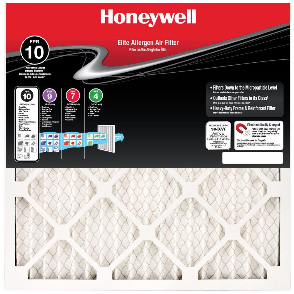 Honeywell 14 In X 14 In X 1 In Elite Allergen Pleated Air Filter Case Of 12 Electrostatic Air Filter Filters Air Filter