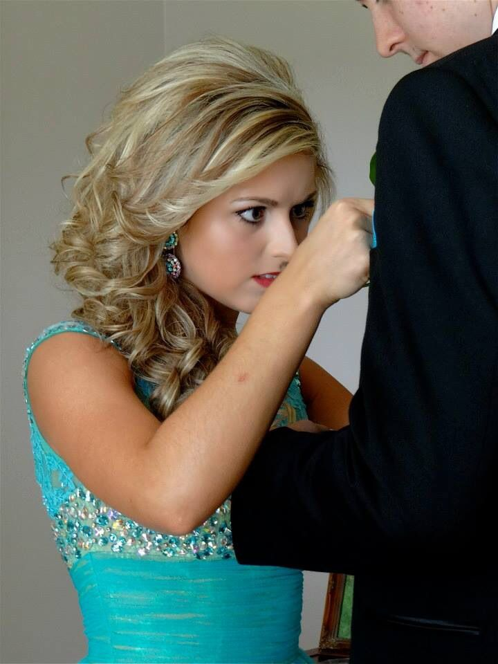 get her putting on his boutonniere; hilarious result! Prom photography ideas.
