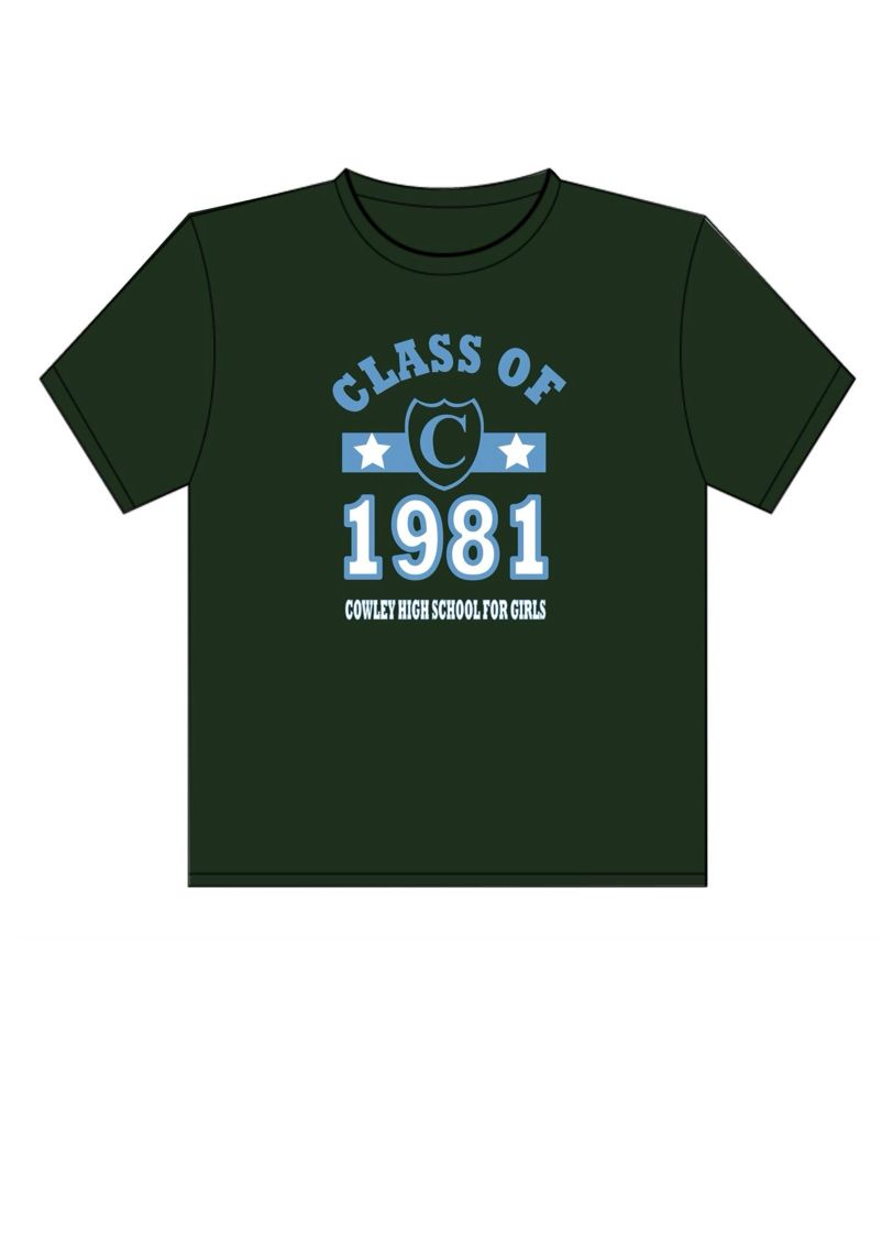 Design t shirt vistaprint - T Shirt Designed For Class Of 81 Cowley Girls To Wear At 2015 School