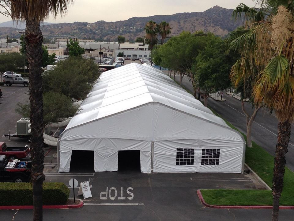 A 50'x200' enclosed tent. Air controlled and pretty