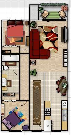 2 Bedroom 2 Bathroom 850 Sq Ft Floor Plan Gaapartments