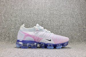 78b9ef9f1244 Womens Nike Air VaporMax Flyknit 2 White Hydrogen Blue Pink Beam Black  942843 102 Running Shoes