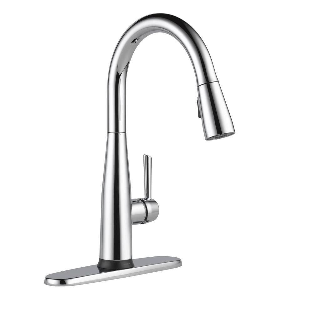 Delta Essa Touch2o Single Handle Pull Down Sprayer Kitchen Faucet Google Assist 1000 Modern 1000 Kitchen Faucet Cleaning Faucets Faucet [ 1000 x 1000 Pixel ]