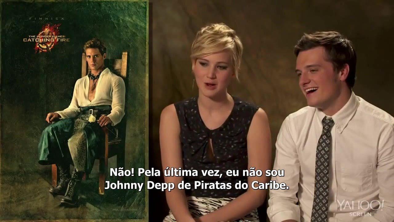 """Legendado: Elenco de """"Jogos Vorazes: Em Chamas"""" em entrevista divertida ..."""