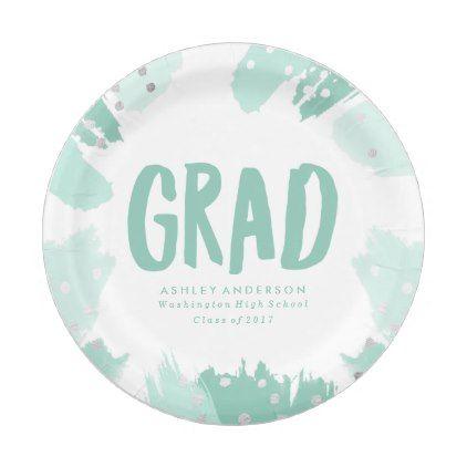 #stylish - #Modern Brush Strokes   Graduation Paper Plate  sc 1 st  Pinterest & stylish - #Modern Brush Strokes   Graduation Paper Plate   stylish ...
