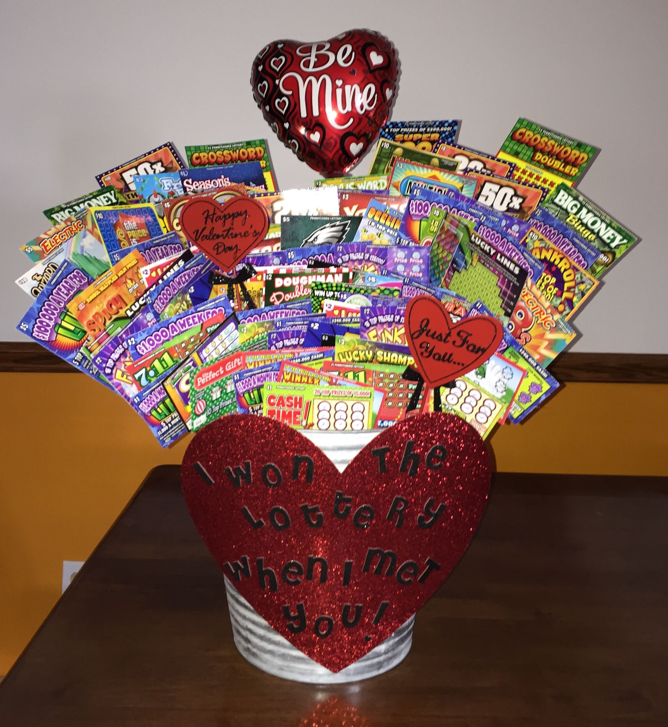 I Won The Lottery When I Met You Lottery Ticket Bouquet
