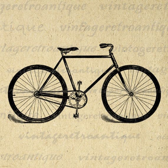 Digital Download Discoveries for ANTIQUE BICYCLE from EasyPeach.com ...