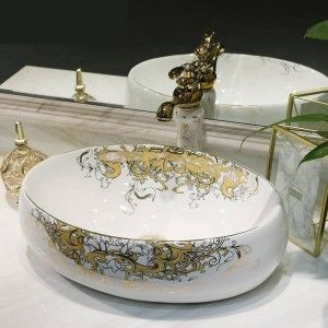 Small oval white Ceramic Art Basin Sinks Counter Top Wash ...