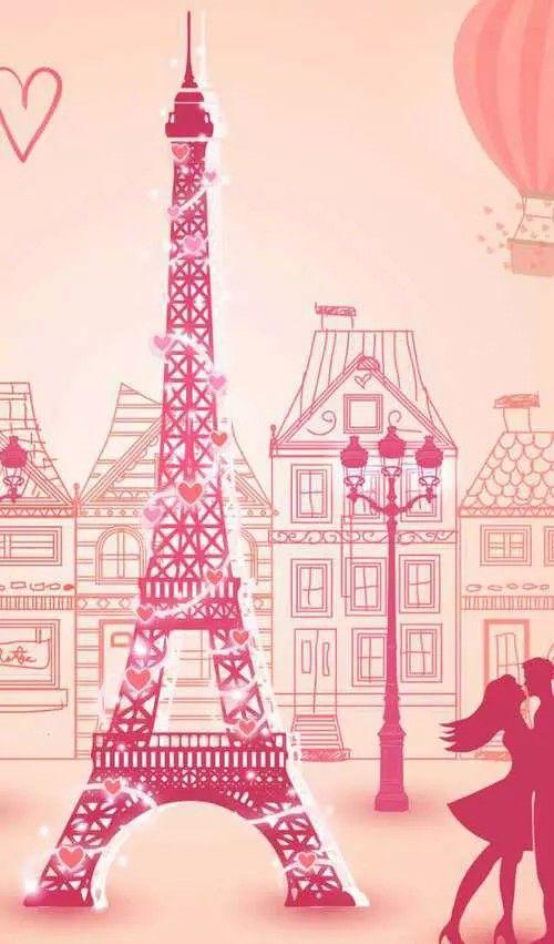 Gambar Wallpaper Paris Pink Impremedia Net