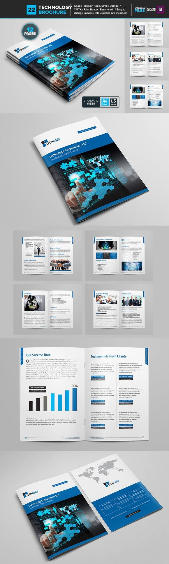 Technology Brochure Template 22. Brochure Templates. $10.00