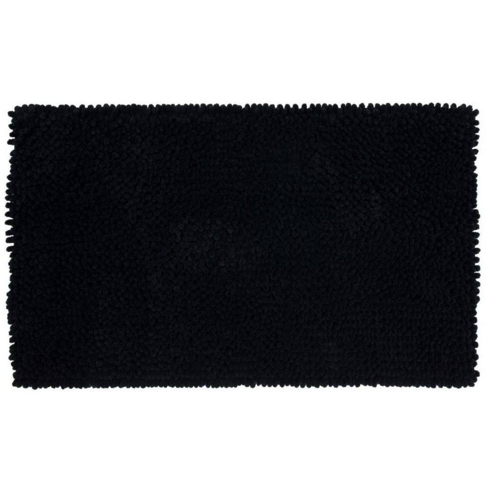 24 X40 Chunky Chenille Memory Foam Bath Rugs Mats Black Room