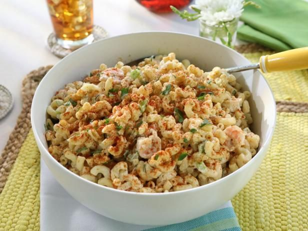 Get Macaroni Salad with Grilled Shrimp Recipe from Food Network