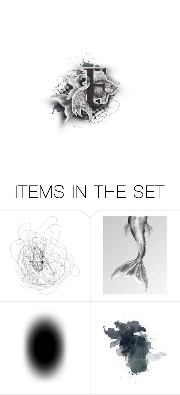 """F for Fish!"" by medamisra ❤ liked on Polyvore featuring art"