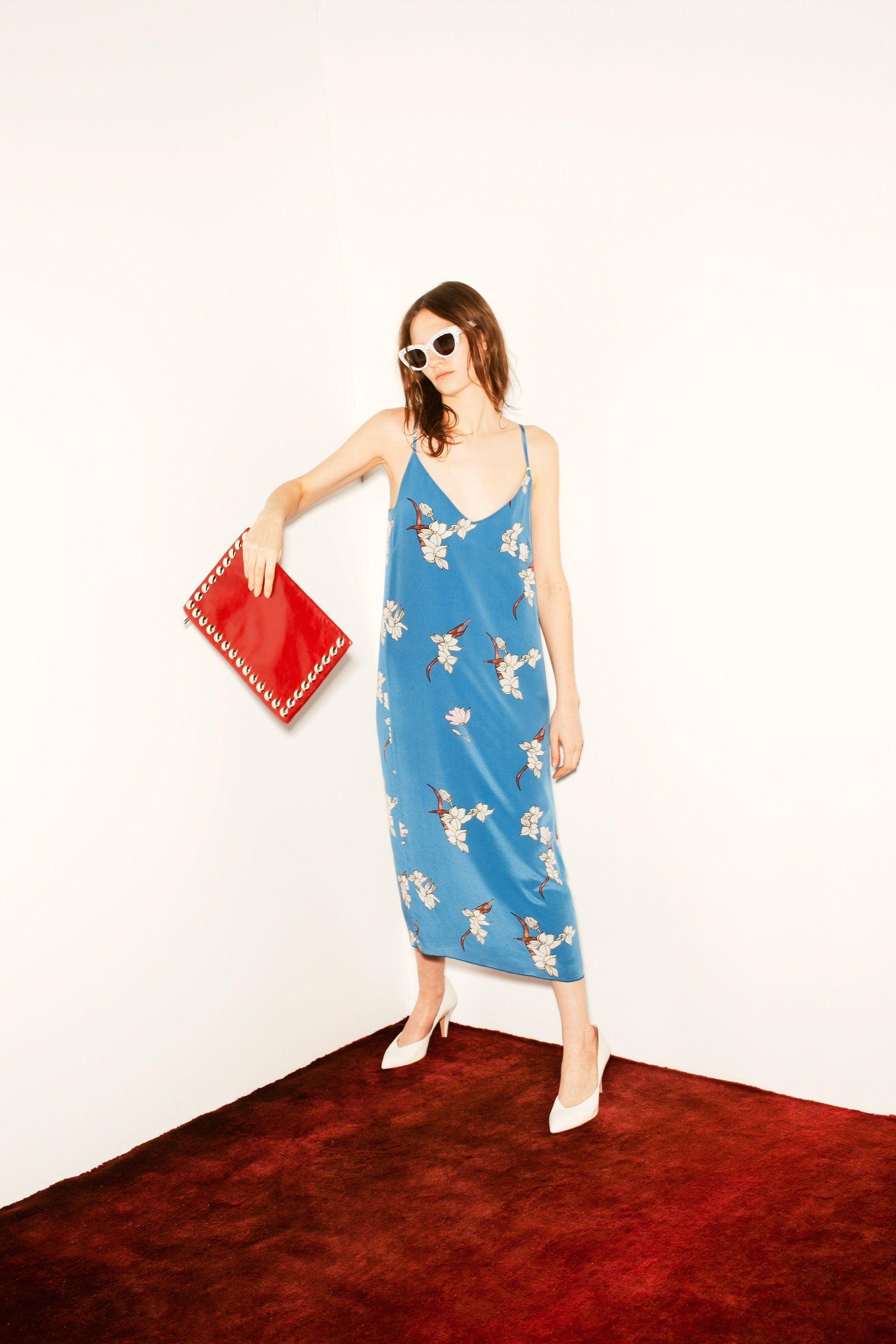 magnolia print dress bimba y lola ss